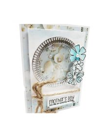 Stamping mothers day card
